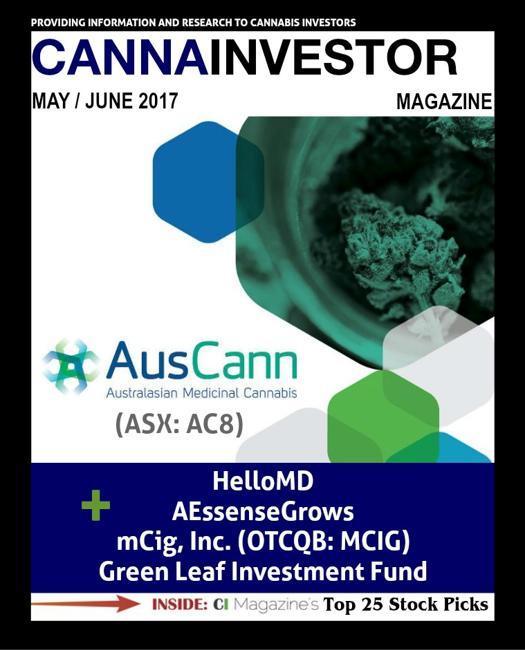 CANNAINVESTOR Magazine May / June 2017