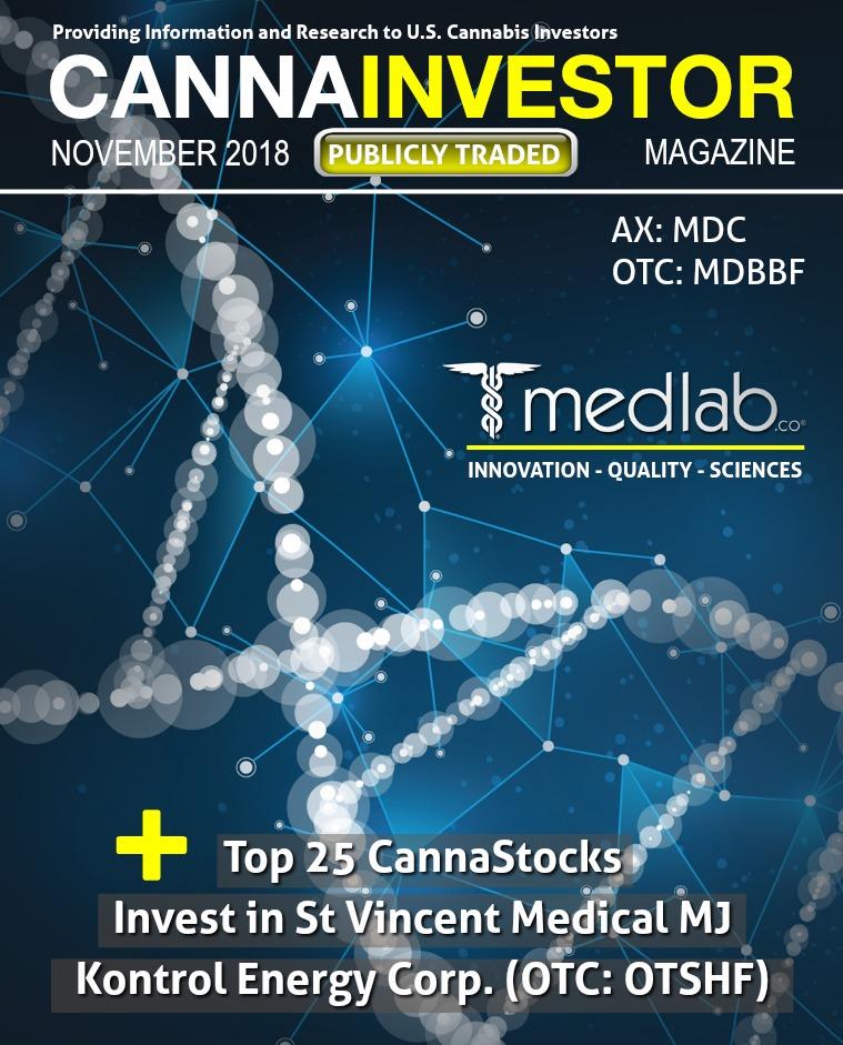 CANNAINVESTOR Magazine U.S. Publicly Traded November 2018