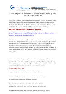 Global Magnesium Hydroxide Flame Retardants Industry 2015 Market Rese
