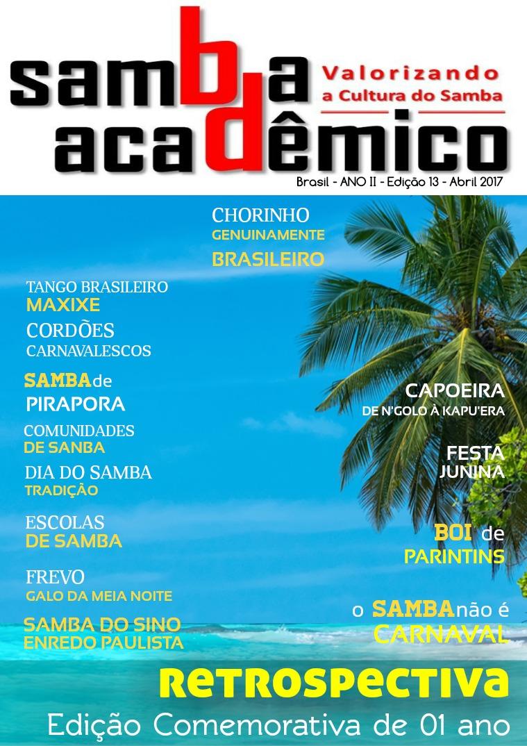 Samba Acadêmico Brasil Edição 13 ANO II Abril 2017