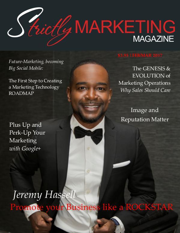 Strictly Marketing Magazine February March 2017 Volume 3 Issue 1