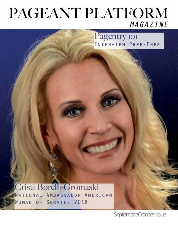 Pageant Platform Magazine Sept Oct 2019 Vol 2 Issue 5