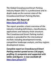 Crowdsourced Smart Parking Industry: Global Market Forecast 2022