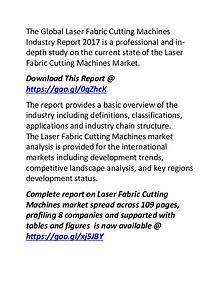 Laser Fabric Cutting Machines Market Key Manufacturers Growth Report