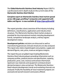 Martensitic Stainless Steel Industry Report 2017