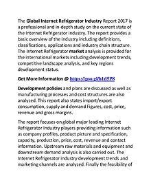 Internet Refrigerator Industry 2017-2022 Market Growth, Trend, Demand