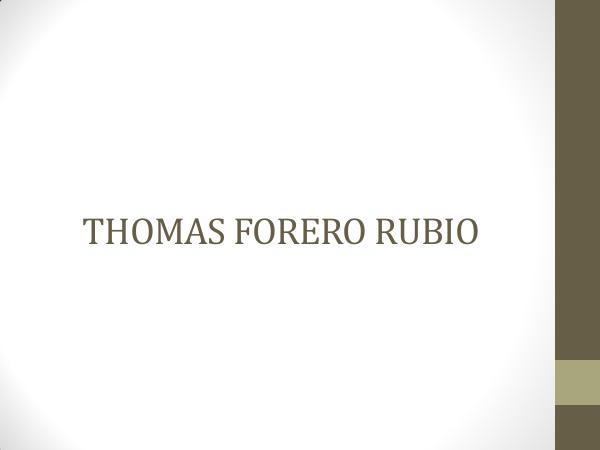 APOYANDO NUESTRAS CULTURAS THOMAS FORERO RUBIO