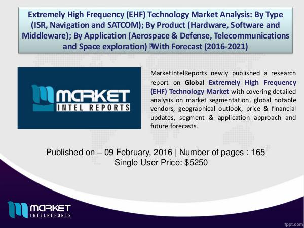 Extremely High Frequency (EHF) Technology– Market Overview 1