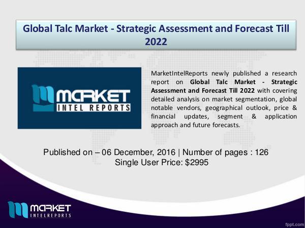 Market Challenges of Talc Market, 2016-2022 1