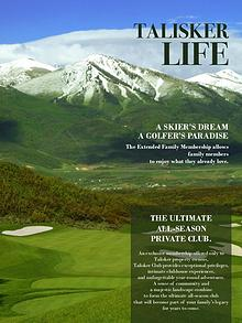 Talisker Club Membership Brochure
