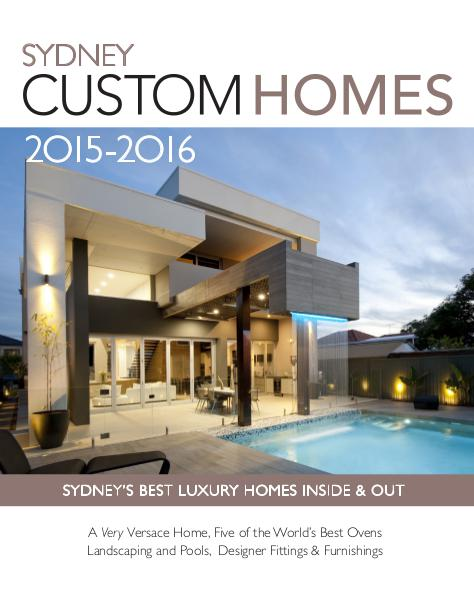 Sydney Custom Homes 2015 / 2016