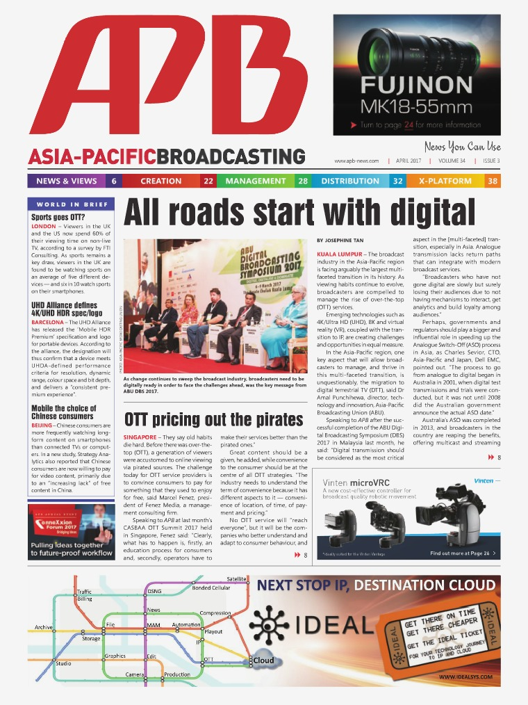 Asia-Pacific Broadcasting (APB) April 2017 Volume 34, Issue 3