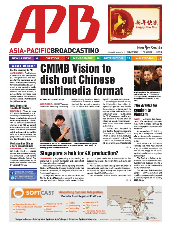 January 2015 Volume 32, Issue 1