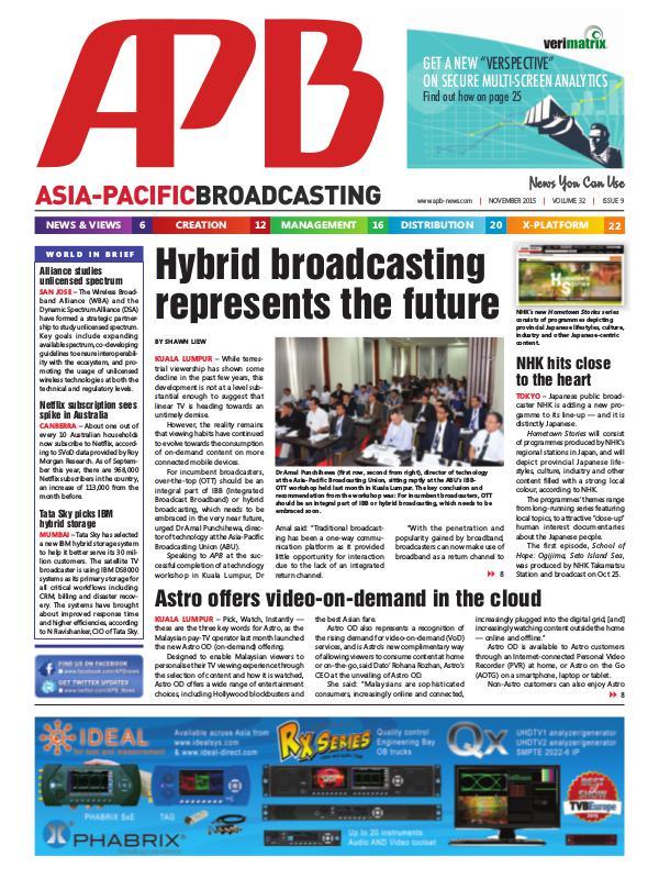 November 2015 Volume 32, Issue 9