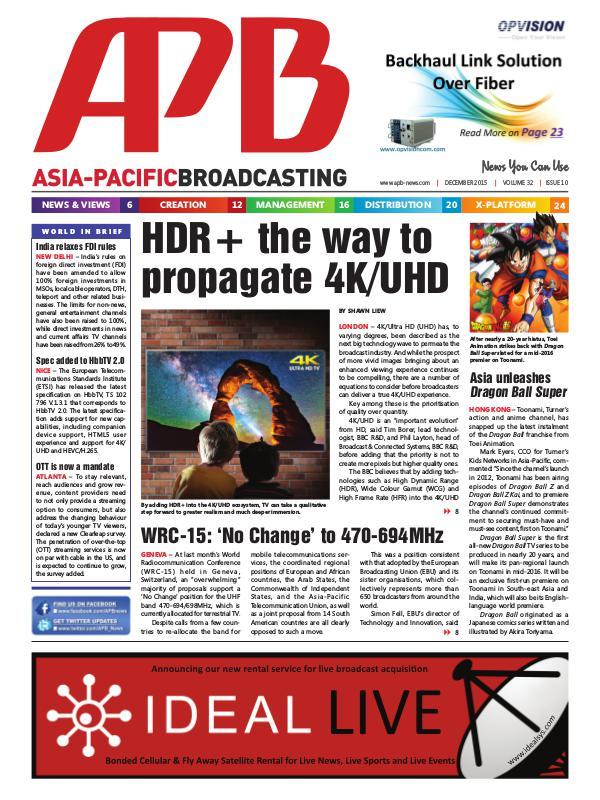 December 2015 Volume 32, Issue 10
