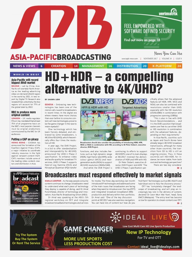 November 2017 Volume 34, Issue 9