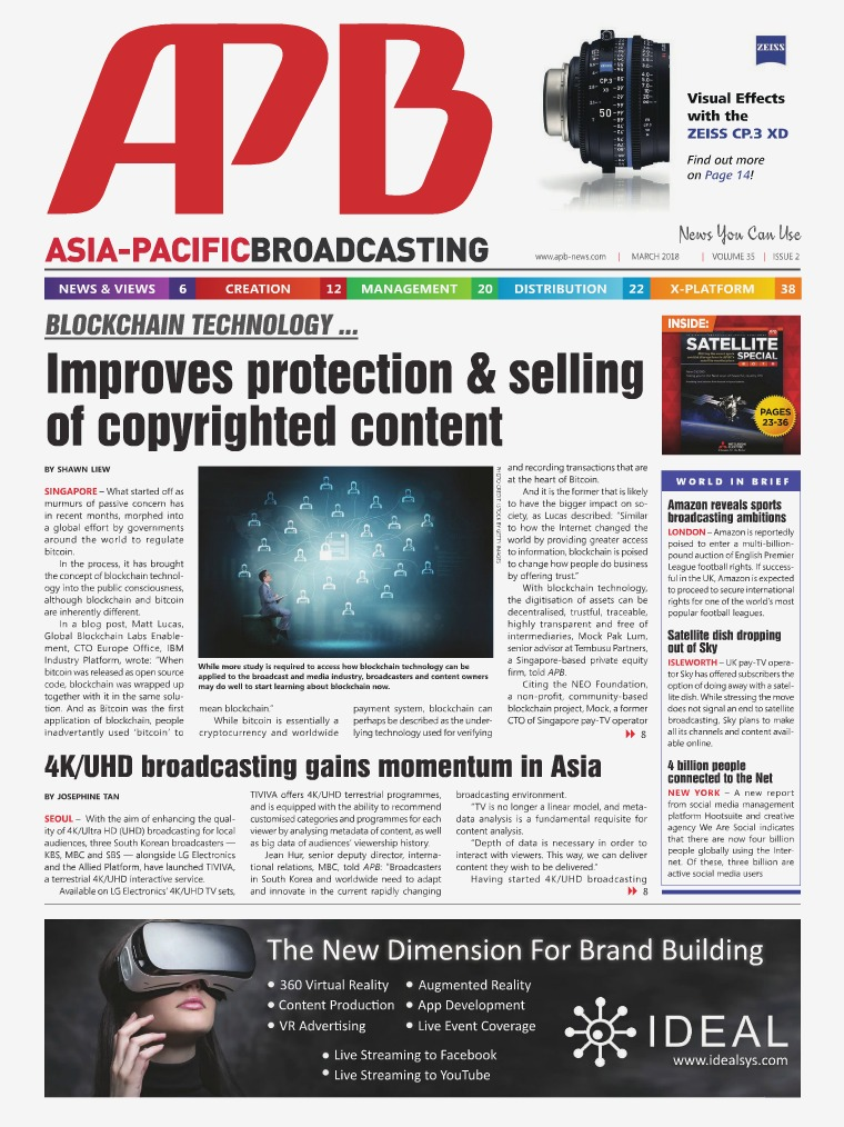Asia-Pacific Broadcasting (APB) March 2018 Volume 35, Issue 2