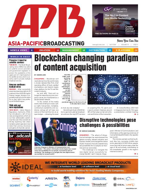 Asia-Pacific Broadcasting (APB) July 2018 Volume 35, Issue 6