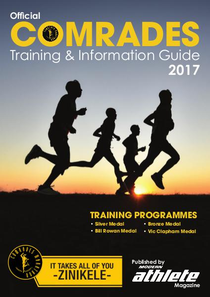 Comrades Supplement Comrades Training and Info Guide, 2017