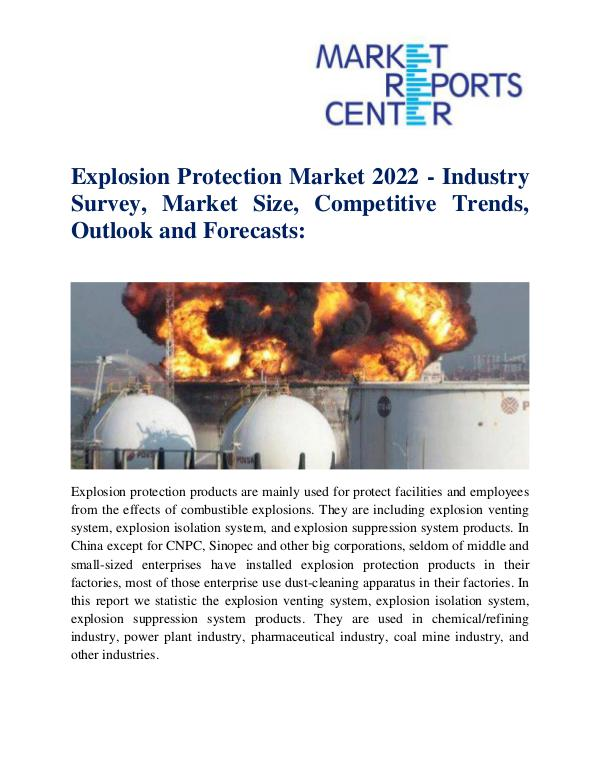 Market Research Reports Explosion Protection Market