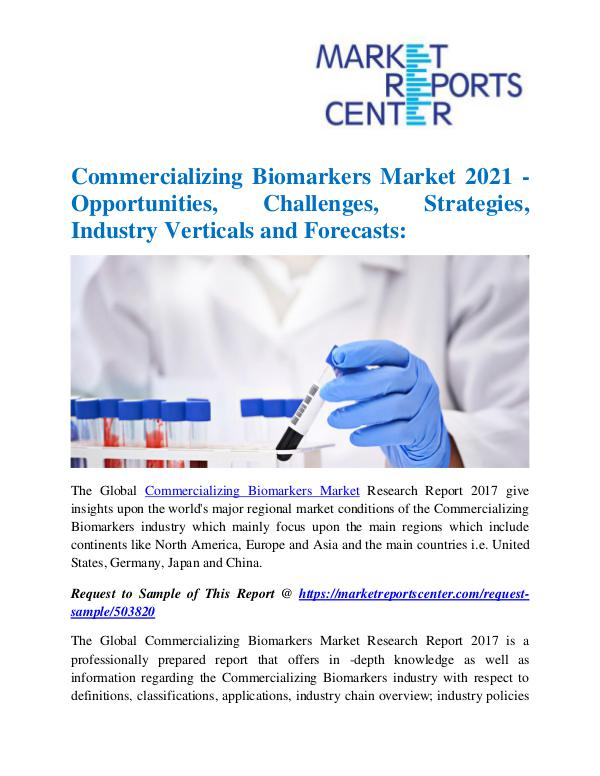 Market Research Reports Commercializing Biomarkers Market