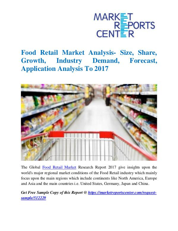 Market Research Reports Food Retail Market