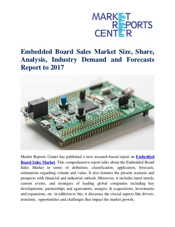 Market Research Reports Embedded Board Sales Market