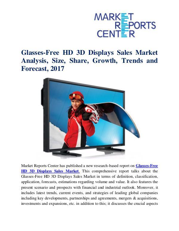 Glasses-Free HD 3D Displays Sales Market