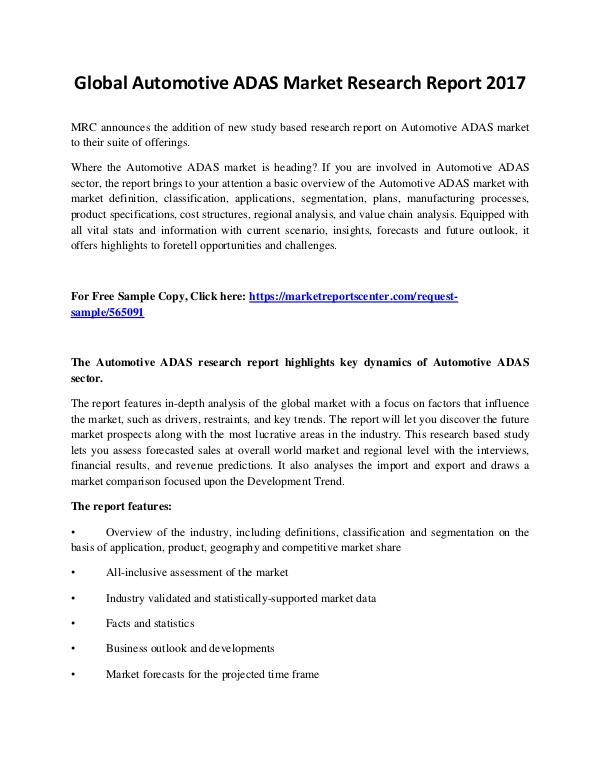 Automotive ADAS Market