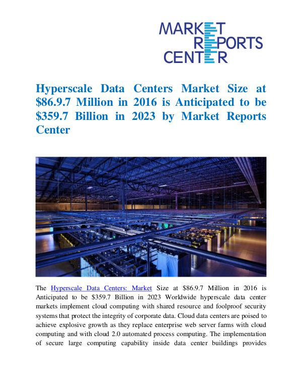 Hyperscale Data Centers Market