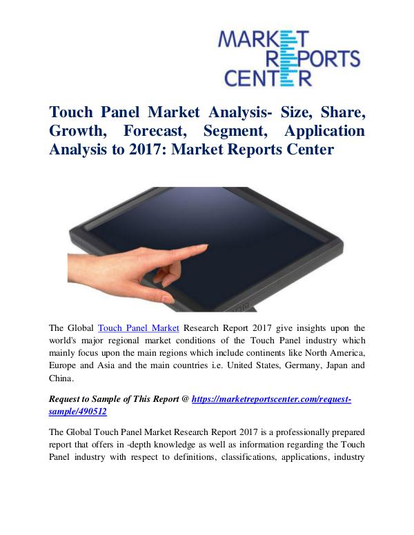 Touch Panel Market