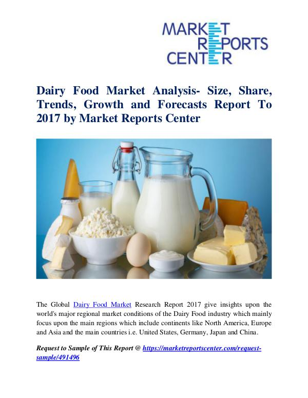 Market Research Reports Dairy Food Market