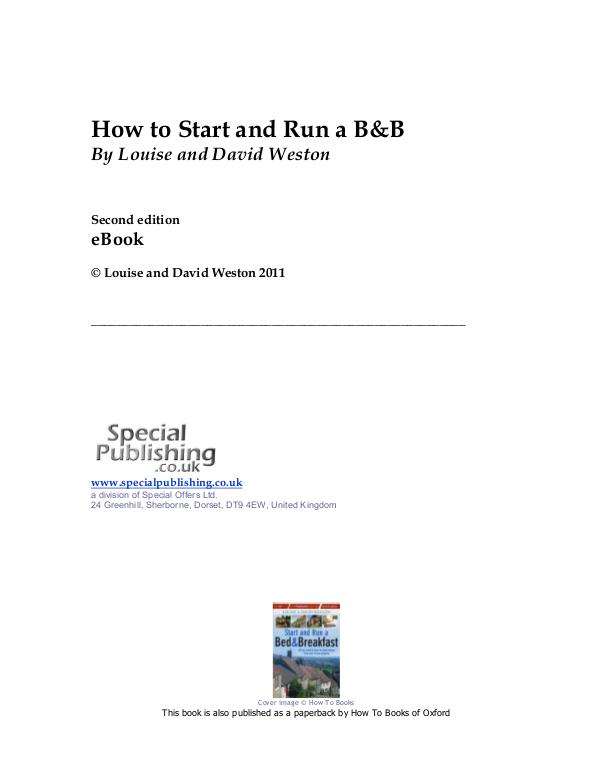 How to Start & Run a B&B BandBED2eBook-1