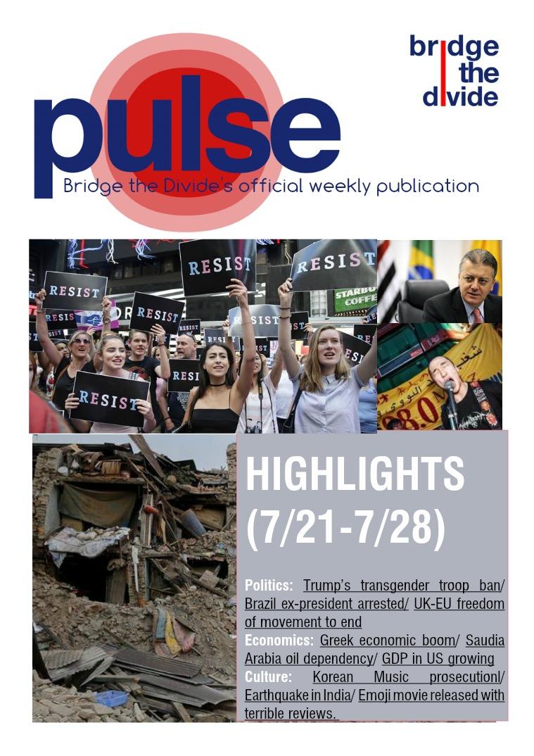 Pulse: 7/21-7/28/2017