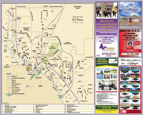 Map of El Paso 2019 Map of El Paso & Fort Bliss