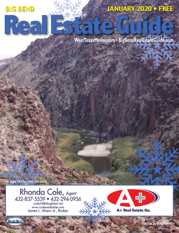 Big Bend Real Estate Guide January 2020