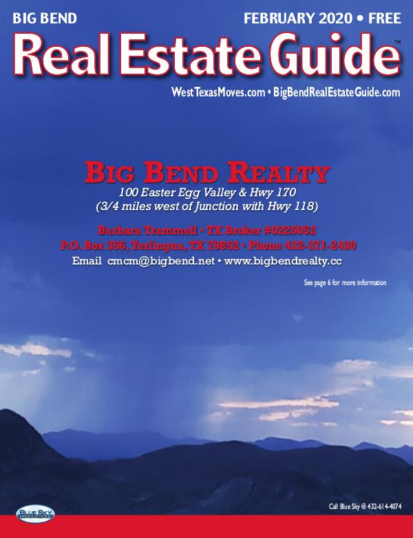 Big Bend Real Estate Guide February 2020