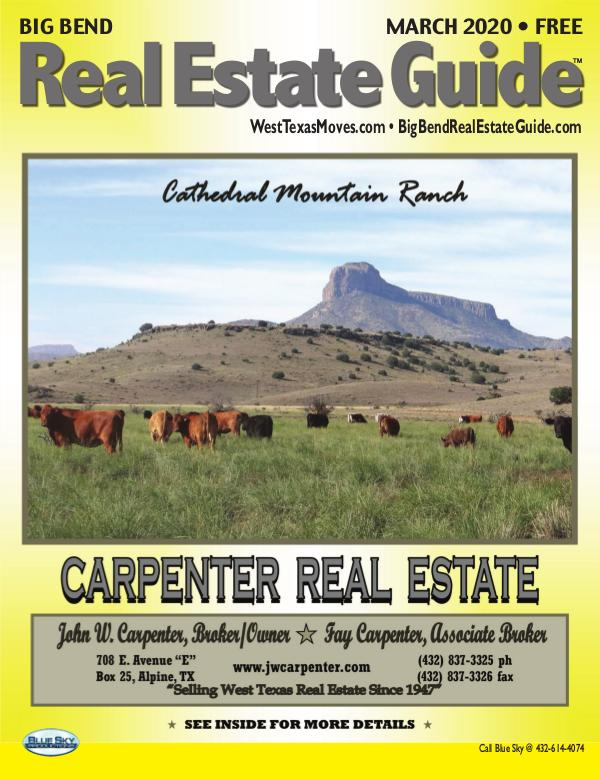 Big Bend Real Estate Guide March 2020
