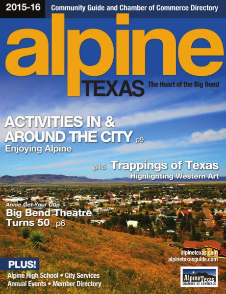 Alpine, Texas Community Guide 2015