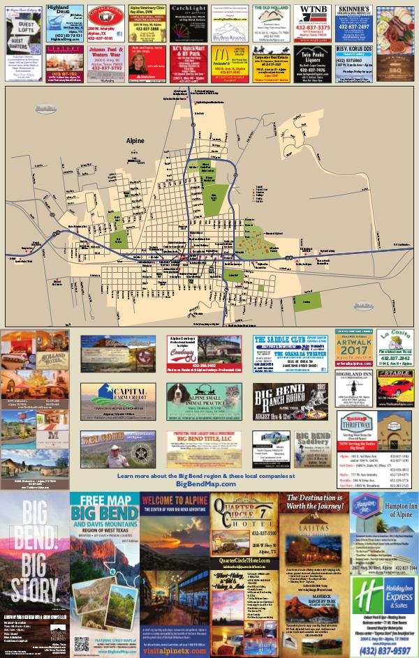 Map of the Big Bend & Davis Mountains 2017