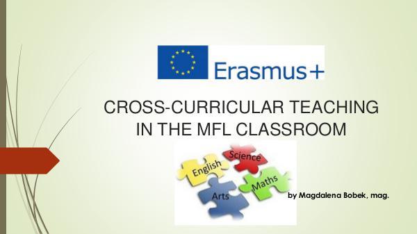 cross curricular in the MFL classroom