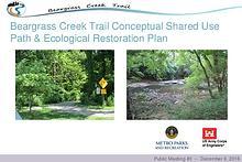 Beargrass Creek Trail Conceptual Shared Use Path & Ecological Restora