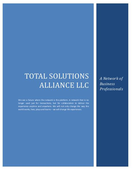 Total Solutions Alliance LLC - Wealth Creation Strategies 1