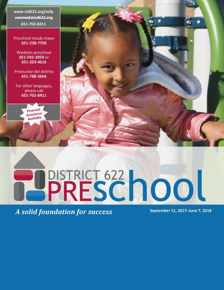 2017-2018 Preschool Catalog