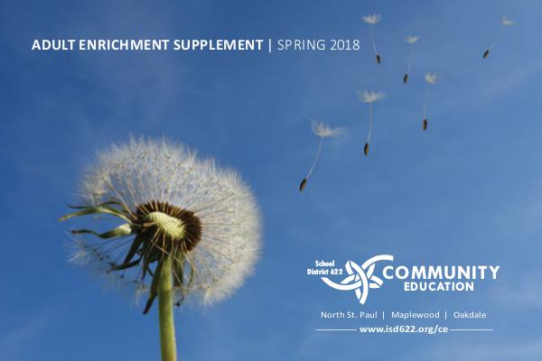 Adult Enrichment Spring Supplement Spring 2018