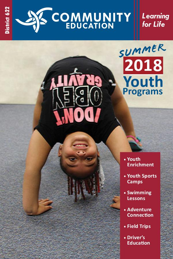 District 622 Community Education Youth Programs Youth Summer 2018―UPDATE