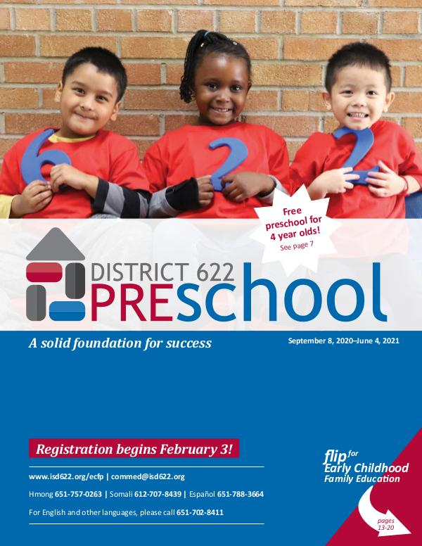 2020-2021 Preschool Catalog