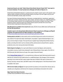 Exhaust Brake Industry 2017 Market Research Report