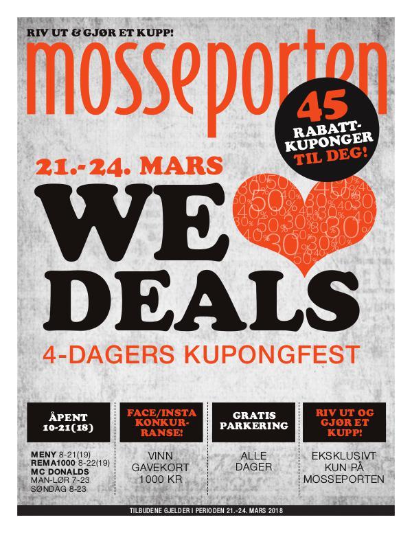 Mosseporten WeLoveDeals - Kuponghefte!