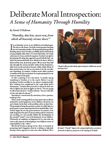 Deliberate Moral Introspection: A Sense of Humanity Through Humility